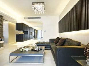 ,客厅,黑色,现代,简约,