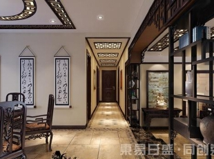 中式现代圆形客厅