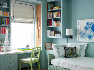自然舒适蓝调卧室