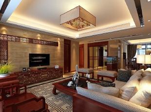 保利林语溪138平三居室新中式风格