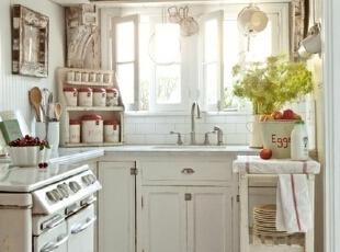 旧厨房变身复古欧式空间