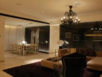 上海鵬利海景花园102平两居室现代风格