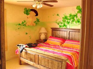 家有儿童 房需手绘墙