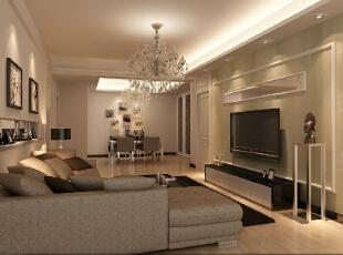 金色漫香院106平三居室现代风格