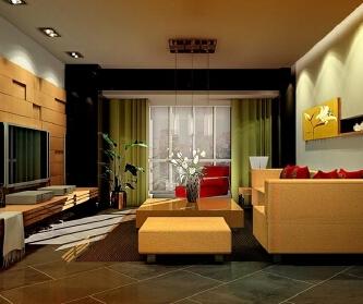 碧岭华庭78平两居室现代...