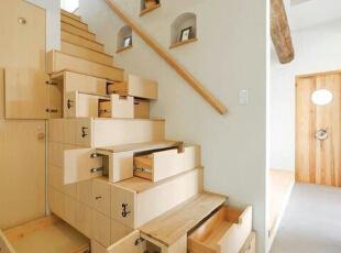 木制阶梯  疯狂收纳