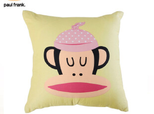 大嘴猴 paul frank 方形抱枕 靠枕 0200302-03,靠垫,