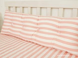 【Asa room】韩国进口代购床头靠枕 粉色条纹靠垫套含芯纯棉 s350,靠垫,