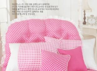 【Asa room】韩国进口床头靠枕 公主两面用点点纯棉靠枕加芯 s020,靠垫,