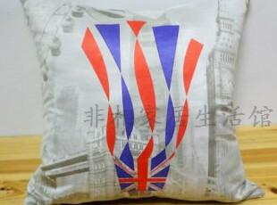 伦敦奥运 奥运吉祥物 外贸 全球购 布艺印花 抱枕靠垫套,靠垫,