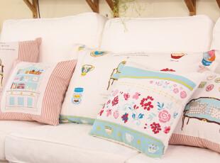 棉麻 韩式 可爱 小萝莉 抱枕套 靠垫套 靠枕套 靠包 DreamHouse,靠垫,