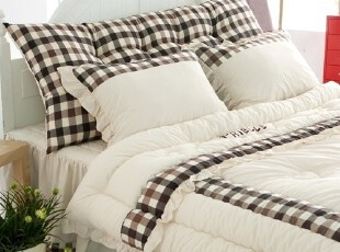 【Asa Room】韩国进口代购靠枕 格子纹床头靠背含芯两面用 s376,靠垫,