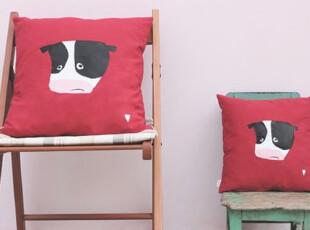 原创 森林系列 帆布 抱枕 四款可选 奶牛,靠垫,