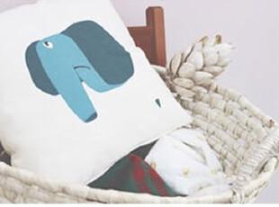 原创 森林系列 帆布 抱枕 四款可选 大象,靠垫,