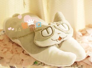 出口日本 趴趴 美梦招财猫莱莱猫 抱枕 靠垫 午睡枕 65cm 3款,靠垫,
