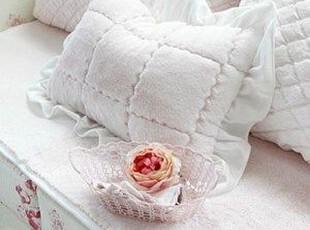 韩国官网代购 优雅甜美木耳边公主靠垫/靠枕 腰靠 2个颜色可选,靠垫,