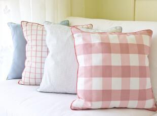 诺迈迪 草莓公主靠包 靠垫套 抱枕套/格子全棉布艺 田园风格,靠垫,