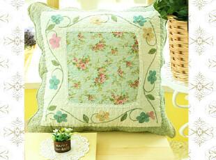 外贸全棉可爱时尚护腰沙发靠垫套抱枕套靠背垫午睡枕靠枕靠垫绣绿,靠垫,