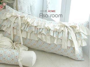 【Asa room】韩国进口床头靠垫 田园小碎花蝴蝶结蛋糕矮靠枕 s283,靠垫,
