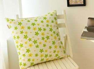 清新绿 纯棉抱枕套|靠垫套|靠枕套|腰枕套| 有同款桌布 可定做,靠垫,