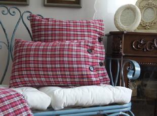 全手工红白色系大个子抱枕,靠垫,