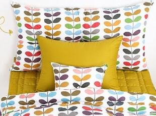 【Asa room】韩国进口床头靠枕 五彩相思叶纯棉代购靠垫含芯 s075,靠垫,