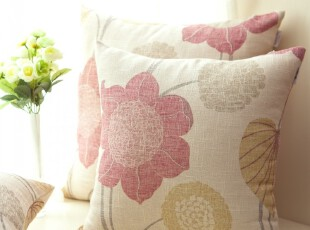 EMMA 沙发靠垫靠垫套抱枕抱枕套靠枕 不含芯 亚麻 蜡染风,靠垫,
