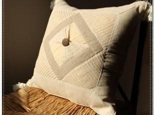 【印尼】手工金银线缝制 香草编织 异域靠垫套4 情侣家装饰,靠垫,