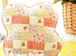 美丽说推荐绗缝可爱田园可拆洗布艺全棉抱枕靠垫蒲团垫四叶草莓,靠垫,