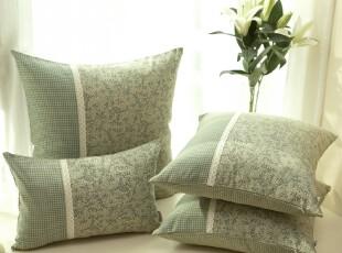 美式田园乡村 沙发靠垫靠垫套抱枕抱枕套靠枕 不含芯灰绿色,靠垫,