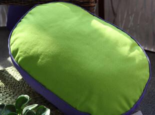 致惠家居 甜美糖果 绿黄紫拼接 椭圆形地垫 可爱创意,靠垫,