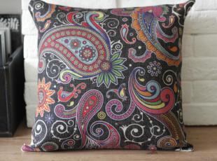 外贸 宜家复古怀旧东南亚花纹抱枕靠枕靠垫沙发垫 含芯,靠垫,