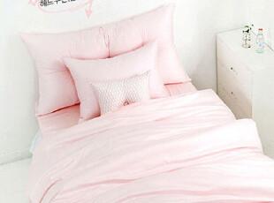 【Asa room】韩国进口床头靠枕 甜美肉粉色纯棉靠垫加芯代购 s043,靠垫,