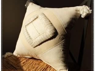 【印尼】手工金银线缝制 香草编织 异域靠垫套5 情侣家装饰,靠垫,