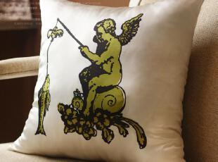 苏黎世 外贸 真丝绸缎 天使之城 靠垫套/抱枕套/坐垫套 满100包邮,靠垫,