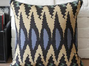 外贸 宜家复古怀旧东南亚异域彩色条纹抱枕靠枕靠垫沙发垫 含芯,靠垫,