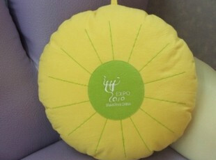纯棉抱枕 时尚创意 可爱苹果型绿色抱枕 靠垫靠腰 汽车抱枕含芯,靠垫,