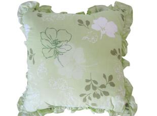 特价清仓外贸原单,草绿色花边抱枕、靠枕、靠垫,靠垫,