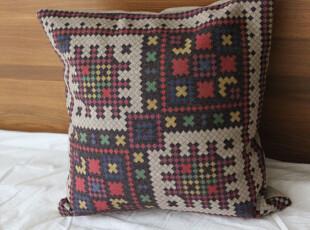 外贸 地中海 怀旧异域 民族风情时尚棉麻抱枕 靠垫 沙发垫 靠枕,靠垫,