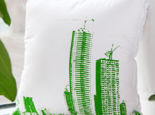 嵘源 城市抱枕被--草绿色/藏蓝色 靠垫 午休枕,靠垫,