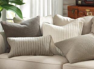Harbor House 全棉针织靠垫套 抱枕套 针织 多色可选 51*51,靠垫,