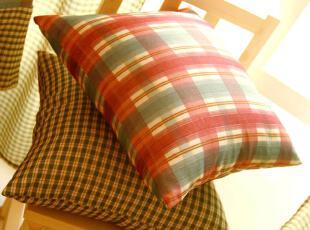英伦田园地中海风格 靠垫/抱枕/靠枕/靠垫套 热血青春绿格系列,靠垫,