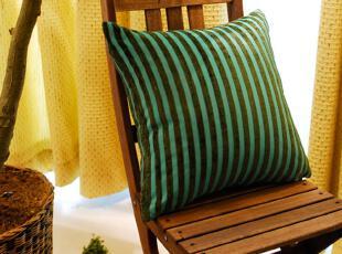 特价 和心爱居外贸 绿色条纹靠垫套抱枕靠枕,靠垫,