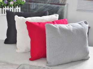 创意 靠枕 立体办公室靠垫腰垫 时尚纯色 床头沙发布艺 大号抱枕,靠垫,