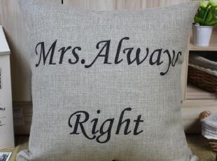 外贸宜家英伦美式简约田园 英文字母创意 棉麻抱枕靠垫沙发垫靠枕,靠垫,