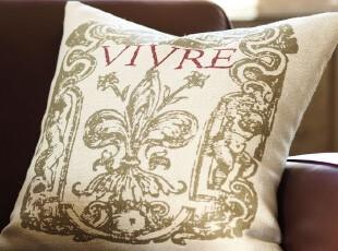 时尚家居靠垫套 鸢尾传说沙发欧式靠垫套/抱枕套/靠枕套50x50,靠垫,