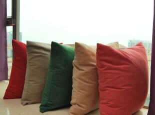 饰屋新麂皮绒舒适 纯色 沙发靠垫/抱枕 高档车内用靠包靠枕,靠垫,