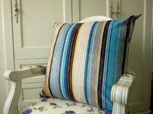 拍3送1 55/65CM细条纹灯芯绒豪华沙发靠垫套坐垫抱枕套靓四色特价,靠垫,