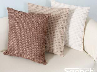 Senhot 抱枕靠枕靠垫睡枕华夫格 45*45 多色,靠垫,