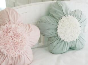 韩国代购 甜美花朵形状公主抱枕/沙发枕 大抱枕 含芯,靠垫,